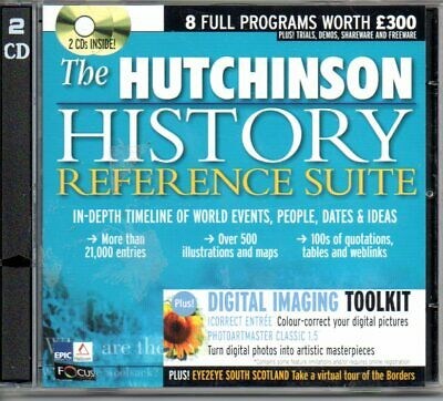 The Hutchinson History Reference Suite PC CD ROM World Timeline People Dates • 1.70£