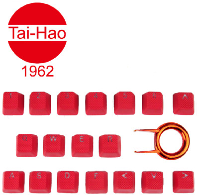 Tai-Hao TPR Rubber Backlit Double Shot 18 Keys Red • 29.99£