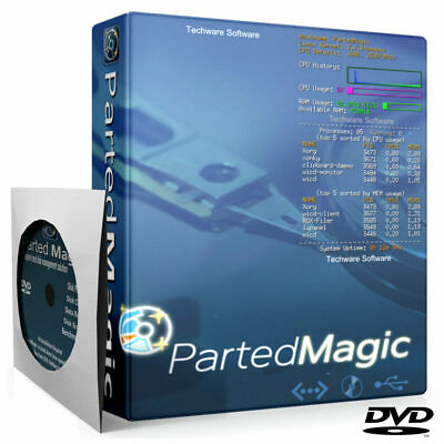 PARTED MAGIC Hard Drive SSD Disk Partitioning Cloning Erasing Data Rescue DVD • 3.49£