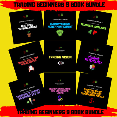 Trading For Beginners 9 BOOK BUNDLE FLASH SALE!! • 99.99£