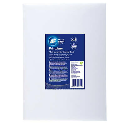 AF Printclene Multi-use Printer Cleaning Sheets - Box Of 25 • 9.67£
