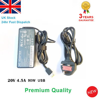 20v 4.5a 90W Fits Lenovo Laptop Charger Adapter Power Supply ThinkPad G405 USB • 11.95£