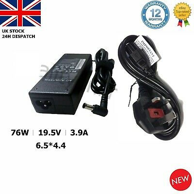 Sony Vaio 19.5v 3.9a 76w Laptop Charger Adapter Power Supply For Vgp Vgn Series • 10.94£