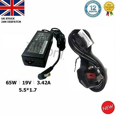 Acer Aspire E15 Laptop Charger Adapter Power Supply 19V 3.42A 65W 5.5*1.7MM • 9.97£