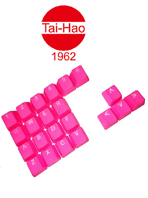 Tai-Hao TPR Rubber Gaming Backlit Double Shot 22 Keys Neon Pink  • 33.99£