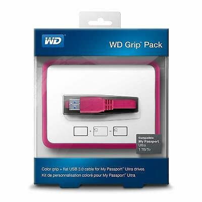 My Passport Ultra WD Flat USB Cable Grip Pack For Drives Fuchsia WDBZBY0000NPM • 6.99£