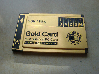 Psion Dacom 56k+fax Gsm/isdn Ready Pmcia Card • 12.99£