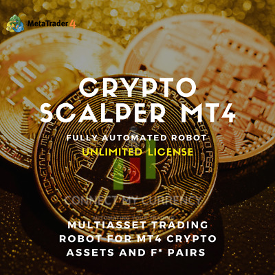 Crypto Scalper EA Fully Automated MT4 Trading System / Strategy + UNLIMITED • 99.97£
