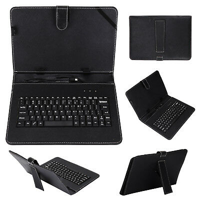 Keyboard And Leather Case 2 In 1 With Suitable For 10  Inch Android Tablet Black • 8.29£