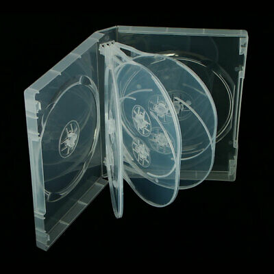 1 X 8 WAY NEW CLEAR DVD CD DISC CASE 27mm SPINE REPLACEMENT SLEEVE NEW • 3.59£