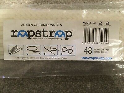 Rapstrap Natural-48 10mm X 300mm, 8 SHEETS OF 6 STRIPSPlant Shub Tree Tie Back • 5.50£