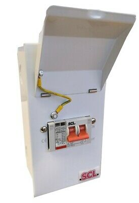 Enclosed 40ka Single Phase Surge Protection Unit With 100a Main Switch • 65£