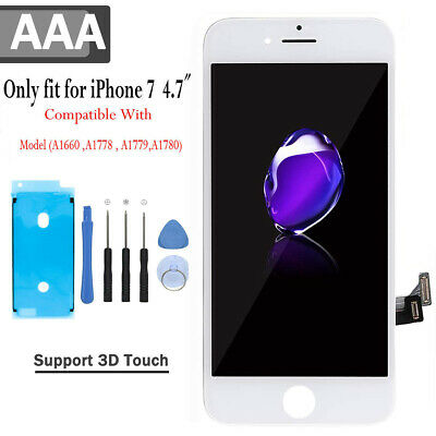 For Iphone 7 A1660 A1778 A1779 Replacement LCD Screen Digitizer White ✅ 3D Touch • 17.99£