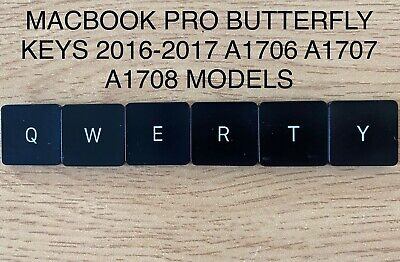 Macbook Pro Key Caps Butterfly Replacement 2016 2017 A1706 A1707 A1708 A1534 • 4.49£