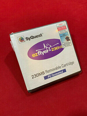NEW! SyQuest Ezflyer EZ230 Disk – 230 MB 3.5  Removable-disk Hard Drive Disc • 39£