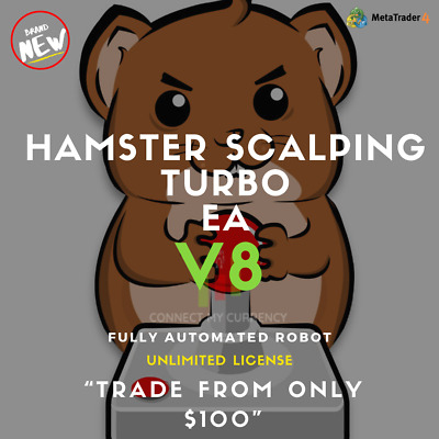 HAMSTER SCALPING TURBO V8 EA Fully Automated MT4 Trading Robot / System • 14.97£