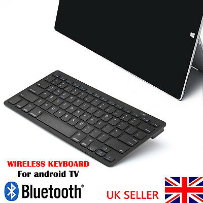 Slim Wireless Bluetooth Keyboard For IPad Android Phone Tablet PC Laptop Black • 8.39£