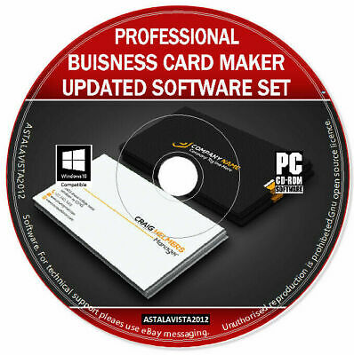 Professional Business Card Maker Creator Editor - Design & Print Software PC DVD • 2.49£