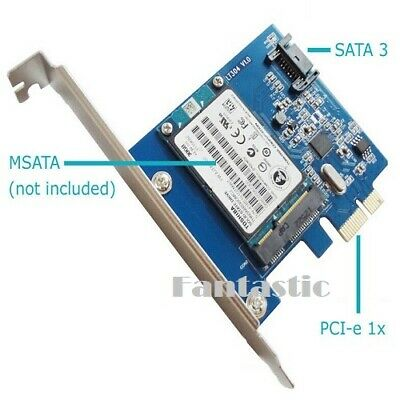 PCI-E Expansion Card Converter Adapter Board For MSATA SSD & SATA 3 III HDD • 9.89£