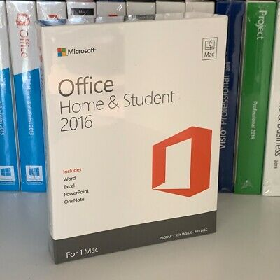 Microsoft Office 2016 Home Student (1 MAC) - Word, Excel, PowerPoint - Lifetime • 89.99£