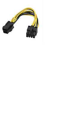 ATX EPS 12v Power Adapter Cable 4 Pin Male P4 To 8 Pin Female 14 CM UK Stock • 1.95£