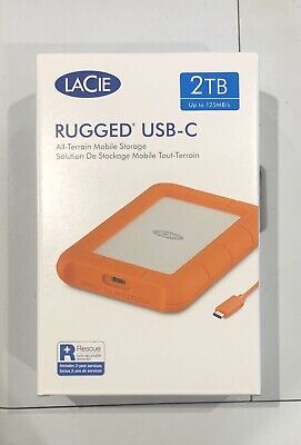 LaCie 2TB Rugged USB, Thunderbolt 3 Compatibility.Shock,Drop And Crush Resistant • 86.99£