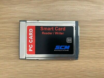 SCM Microsystems PC CARD SCR241 Smart Card Reader/Writer P/N: 903397 • 11.99£