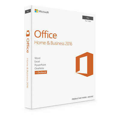 * Genuine Microsoft Office 2016 For Mac Home & Business * • 4.99£