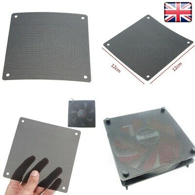 PVC PC Fan Dust Filter Dustproof Case Computer Mesh 120mm UK • 1.89£