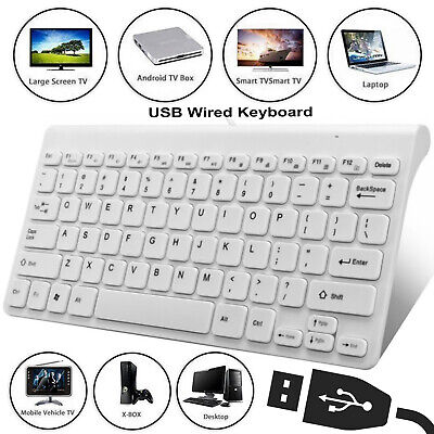 78 Keys Ultra Thin Mini USB Wired Compact Multimedia Keyboard For PC Laptop • 9.89£