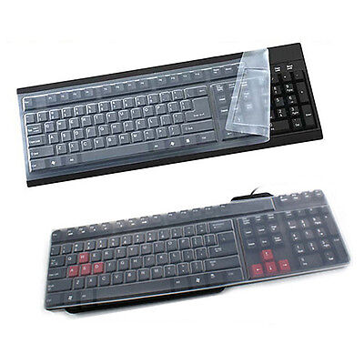 Universal Silicone Desktop Computer Keyboard Cover Skin Protector Film Cover LS • 3.29£