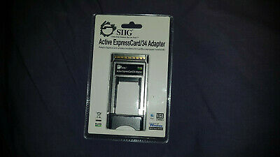 SIIG Active ExpressCard/34 Adapter JU-EC0033-S2 - NEW In Original Packaging!!! • 27.25£
