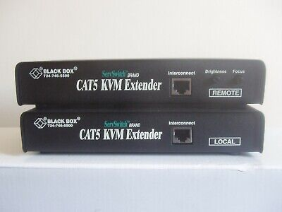 Black Box Acu1009a Cat5 Kvm Extender Local And Remote Boxes • 30£