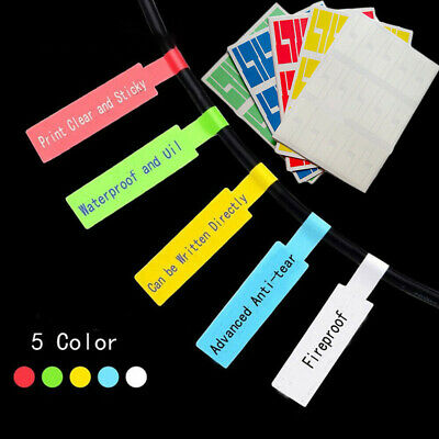 150pcs 5 Sheets Self-Adhesive Network Cable Labels Waterproof Tear Resistant Tag • 4.59£