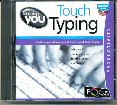 Teaching-you - Touch Typing - Windows CD Rom - Free Postage • 4£