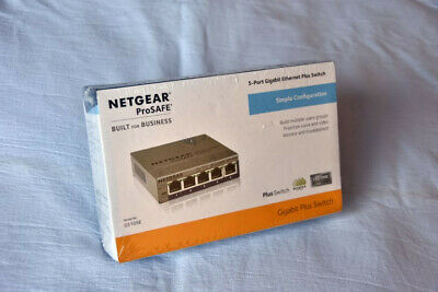 5 Port Netgear GS105E-200UKS V2 Prosafe Gigabit Smart Managed Plus Switch • 20£
