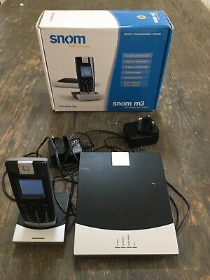 Snom M3 Dect VoIP SIP Phone - Complete System - Base, Phone And Charger • 50£