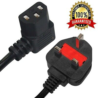 3 Pin Right Angle Kettle Lead Cable Power Cord IEC C13 1.8 Meter UK Plug • 5.99£