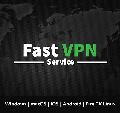 Fast VPN 1 Year Subscription Windows MacOS IOS Android Fire TV Linux • 1.50£