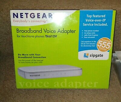 Netgear Sipgate VoIP Broadband Phone Adapter • 34£