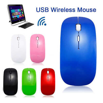 NEW Wireless Cordless Mouse Optical Scroll 2.4GHz For PC Laptop Computer USB Uk  • 3.50£