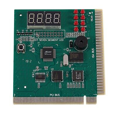 PC Motherboard Diagnostic Card 4-Digit PCI/ISA POST Code Analyzer R2Y2 • 4.43£