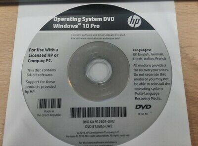 New Windows 10 64 Bit Operating System HP Compaq Genuine Repair Recovery DVD. • 5£