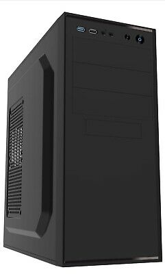 CiT Jet Stream Midi Case With Silver Stripe And 500 W Power Supply - Black • 30£