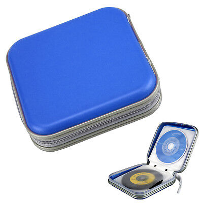 40 CD DVD Carry Case Disc Storage Holder CD Sleeve Wallet Ideal For In Car BLUE • 3.85£