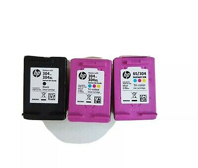 EMPTY Genuine HP 304 Empty Ink Cartridges 1 X Black And 2 X Colour • 5£