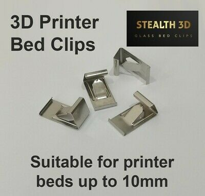 3D Printer Bed Clips - Glass Bed/Heated Bed/Mirror Clips - Stealth 3D • 2.99£