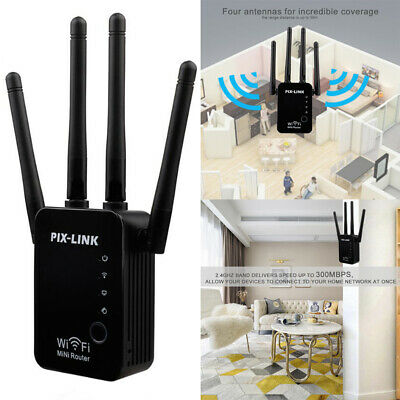 2.4GHz Wifi Signal Range Extender Repeater Wireless Router Range Booster 300Mbps • 15.97£