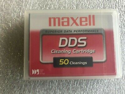 Maxell 4mm DDS DAT Tape Head Cleaning Cartridge - New, DDS 1/2/3/4 & DAT72 • 14.95£