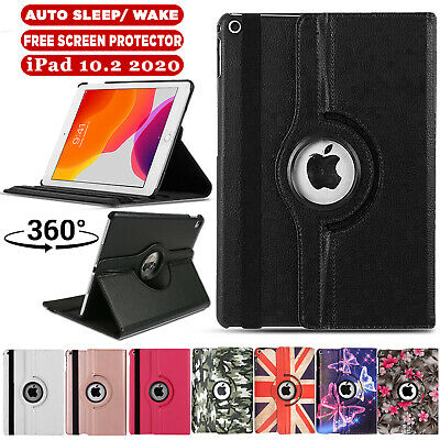 For Apple IPad 10.2  (2020) 8th Generation 360° Rotating Leather Slim Case Cover • 6.99£